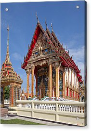 Acrylic Print featuring the photograph Wat Choeng Thalay Ordination Hall Dthp138 by Gerry Gantt