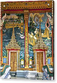 Acrylic Print featuring the photograph Wat Choeng Thale Ordination Hall Facade Dthp143 by Gerry Gantt