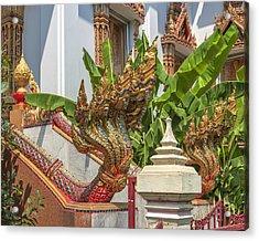 Wat Dokmai Phra Ubosot Stair Naga Dthb1783 Acrylic Print