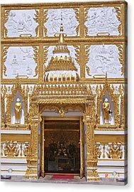 Wat Nong Bua Door Of Main Stupa Dthu448 Acrylic Print by Gerry Gantt