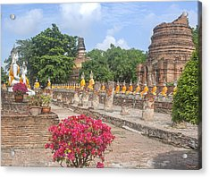 Wat Phra Chao Phya-thai Buddha Images And Ruined Chedi Dtha004 Acrylic Print