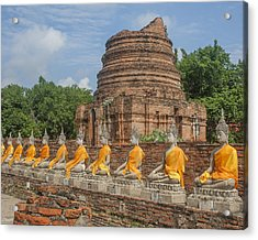 Wat Phra Chao Phya-thai Buddha Images And Ruined Chedi Dtha005 Acrylic Print