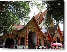Wat Phrathat Doi Suthep - Chiang Mai Thailand - 01138 Acrylic Print by DC Photographer