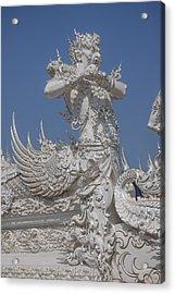 Wat Rong Khun Ubosot Causeway Guardian Dthcr0007 Acrylic Print
