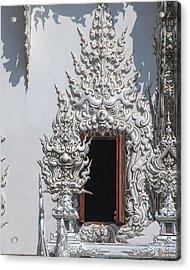 Wat Rong Khun Ubosot Window Dthcr0042 Acrylic Print