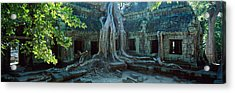 Wat Temple Complex Of Ta-prohm Cambodia Acrylic Print by Panoramic Images