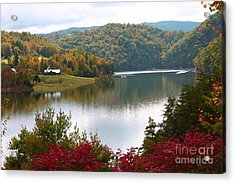 Watauga Lake Autumn Acrylic Print