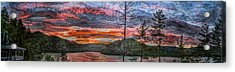 Watauga Lake Sunset Acrylic Print by Tom Culver