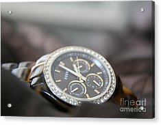 Acrylic Print featuring the photograph Watch Detail by Lynn England