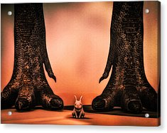 Watch Out Little Bunny Acrylic Print by Bob Orsillo