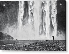 Watcher At The Falls - Iceland Waterfall Photograph Acrylic Print