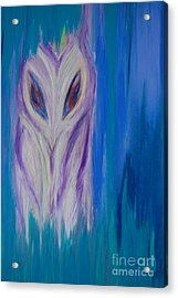 Watcher In The Blue Acrylic Print by First Star Art