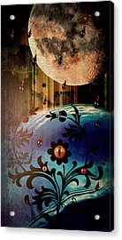 Acrylic Print featuring the mixed media Watching by Ally  White