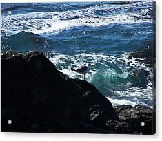 Watching As The Waves Pass By Acrylic Print by Christine Drake