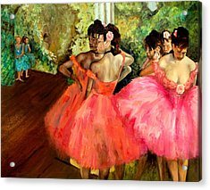 Watching Degas Acrylic Print by Graham Keith