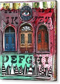 Watching Doors Acrylic Print by Carrie Todd