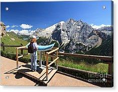 watching Marmolada mount Acrylic Print by Antonio Scarpi