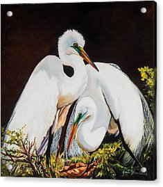 Watching Over Her Acrylic Print by Jane Woodward