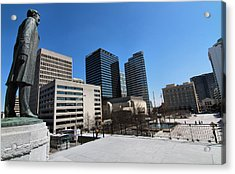 Watching Over Nashville Acrylic Print by Dan Sproul