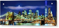 Watching Over New York Acrylic Print by Az Jackson
