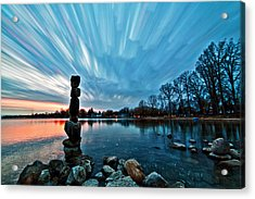 Watching The Clouds Pass Acrylic Print by Matt Molloy