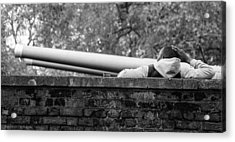Acrylic Print featuring the photograph Watching The Guns by Ross Henton