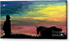 Watching The Horses Acrylic Print by R Kyllo