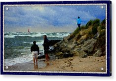 Watching The Storm Come In Acrylic Print by Rosemarie E Seppala