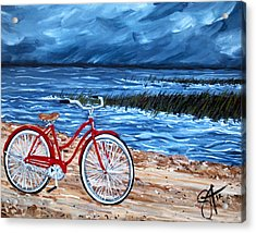 Acrylic Print featuring the painting Watching The Storm by Jackie Carpenter