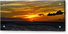 Watching The Sun Set In Barbados  Acrylic Print