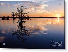 Watching The Sunset At Ba Steinhagen Lake Martin Dies Jr. State Park - Jasper East Texas Acrylic Print