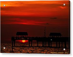 Acrylic Print featuring the photograph Watching The Sunset by Richard Zentner