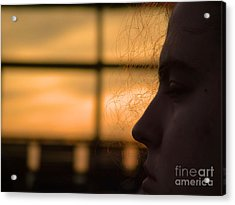 Watching The Sunset Acrylic Print by Robyn King