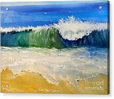 Watching The Wave As Come On The Beach Acrylic Print