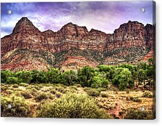 Acrylic Print featuring the photograph Watchman Trail - Zion by Tammy Wetzel