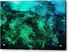 Water Abstraction Acrylic Print by Kim Lessel