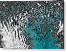 Water And Ice - Blue Splash Acrylic Print by Ben and Raisa Gertsberg