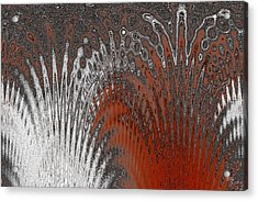 Water And Ice - Red Splash Acrylic Print by Ben and Raisa Gertsberg
