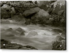 Acrylic Print featuring the photograph Water And Rocks by Amarildo Correa