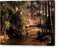 Acrylic Print featuring the photograph Water And Sandstone by Haren Images- Kriss Haren