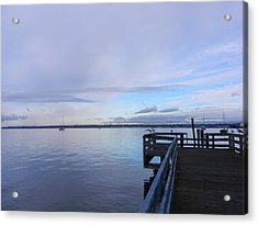 Acrylic Print featuring the photograph Water And Sky Of Bellingham Bay by Karen Molenaar Terrell