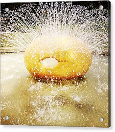 Water Art Acrylic Print by Les Cunliffe