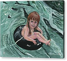 Water Babies Acrylic Print by Janis  Cornish