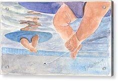 Water Babies Acrylic Print by Sheryl Heatherly Hawkins