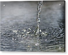 Water Beam Splashing Acrylic Print