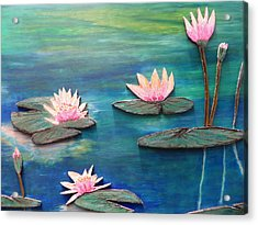 Water Blossom Acrylic Print