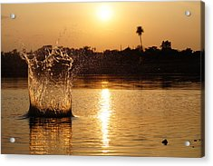 Water Bomb Acrylic Print by Utkarsh Solanki