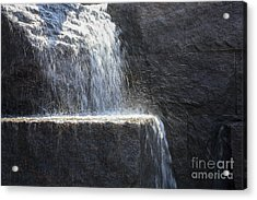 Water Cascades At The Fdr Memorial In Washington Dc Acrylic Print by William Kuta