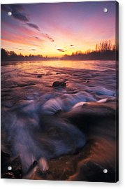 Water Claw Acrylic Print by Davorin Mance
