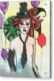 Water Clown Acrylic Print by Amy Sorrell